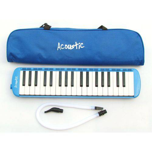 Escaleta Pianica Azul Acoustic 37 Teclas C/ Estojo