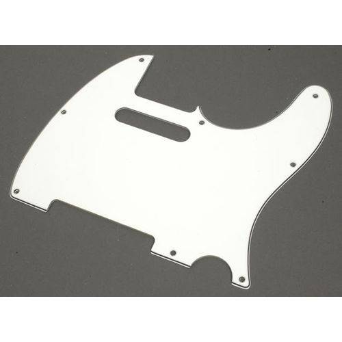 Escudo para Guitarra Telecaster Branco Spirit 3camadas X310