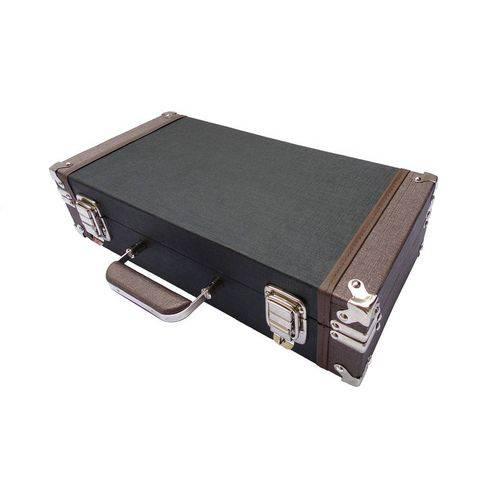 Estojo Case Marrom Flauta Transversal Compartimento Duplo R0303