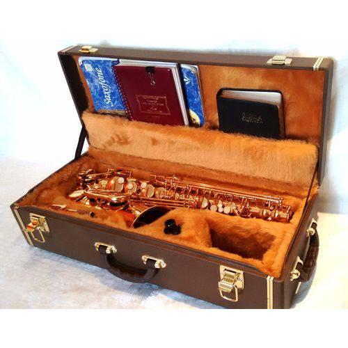 Estojo Case para Saxofone Alto com Compartimento Cor Marrom - Kromus