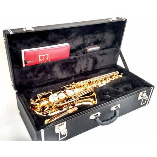 Estojo Case para Saxofone Alto com Compartimento Cor Preta - Kromus