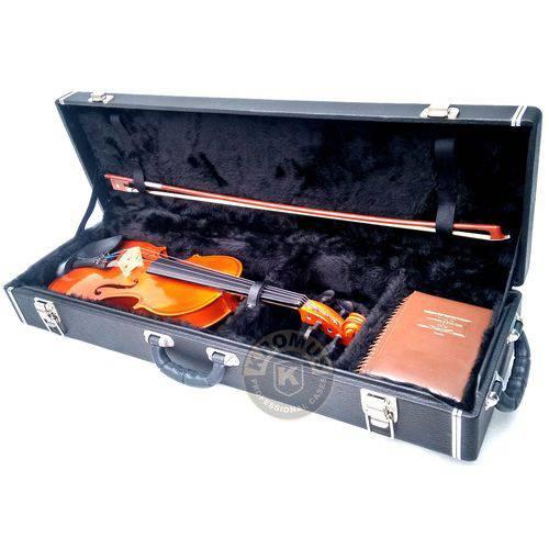 Estojo Case Retangular para Violino 4/4 Preto Marca Kromus