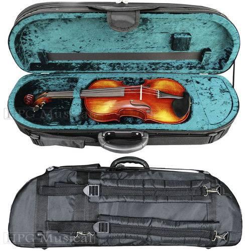 Estojo Case Violino Kloss Meia Lua Verde 4/4