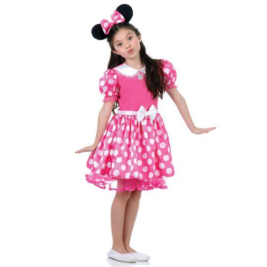 Fantasia Minnie Disney Infantil Rosa P