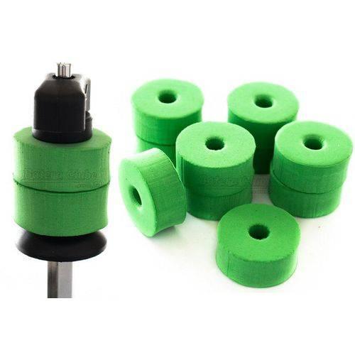 Feltros Rubber Wheel Kit com 10 Feltros (verde Limão) para Estante de Prato com 15mm de Espessura