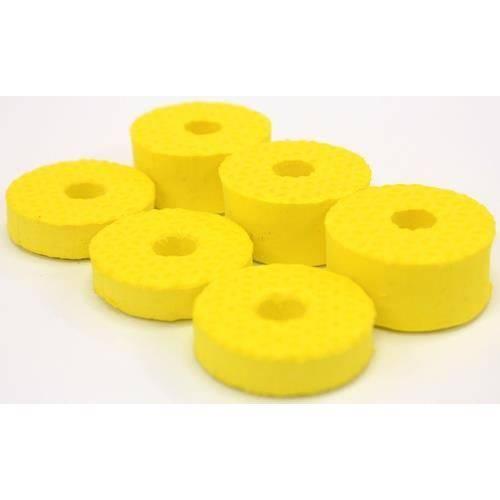 Feltros Tribal Percussion Kit com 6 Feltros (amarelo) para Estante de Prato