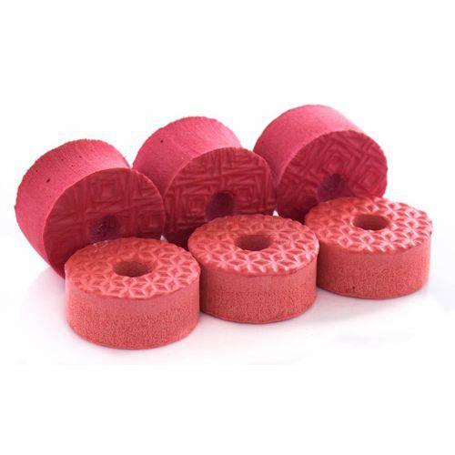 Feltros Tribal Percussion Kit com 6 Feltros (vermelho) para Estante de Prato