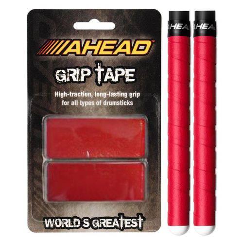 Fita Aderente P/ Baqueta Ahead Grip Tape Red Gtr Ajuda não Escorregar a Baqueta P/ Todas as Marcas