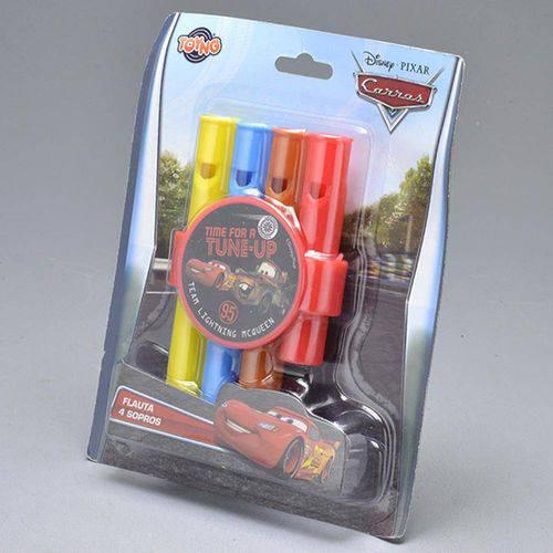 Flauta com 4 Sopros Carros Disney - Toyng