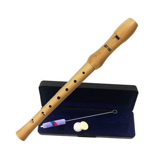 Flauta Doce em Madeira Crs Barroca