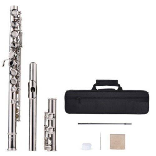 Flauta Transversal Slade Soprano Prateada em Dò Banhada