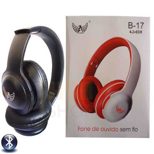 Fone Bluetooth com Fm + Entrada Micro Sd + Aux B-17 - Altomex