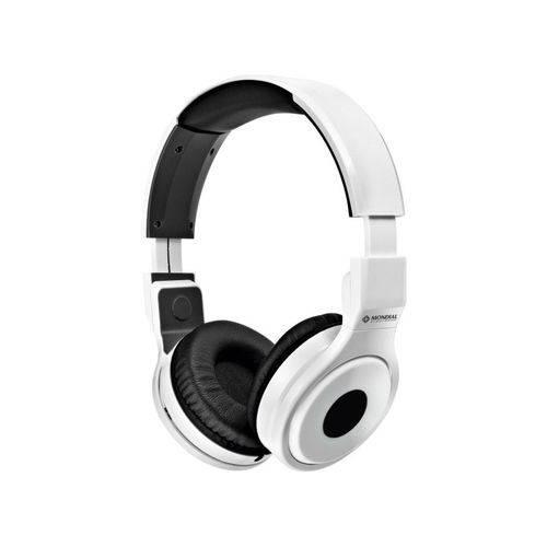 Fone de Ouvido Headphone Mondial Hp-02 Branco + Cartela de Adesivos
