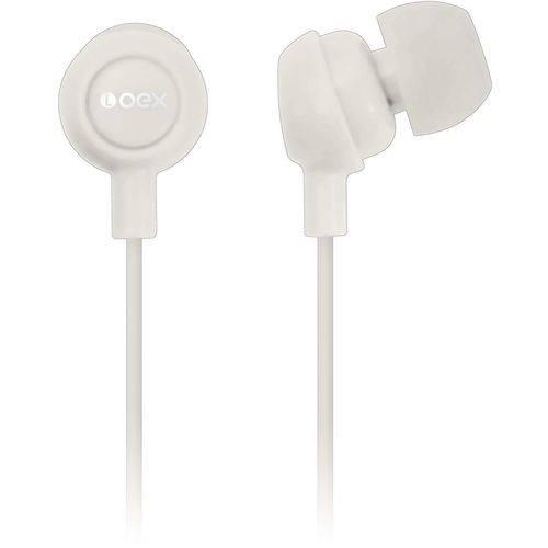 Fone de Ouvido Intra Auricular Branco Oex Unidade