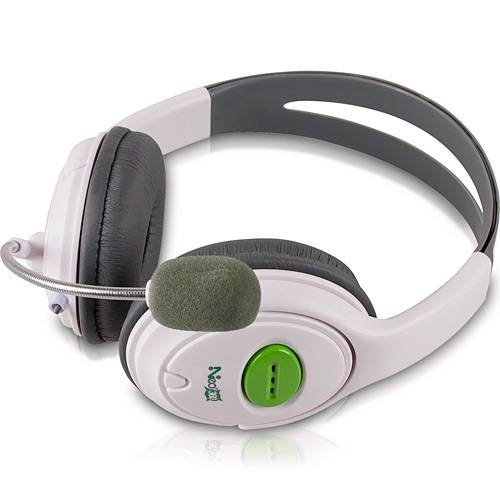 Fone Headset com Microfone e Controle de Volume P/ Xbox 360 Preto