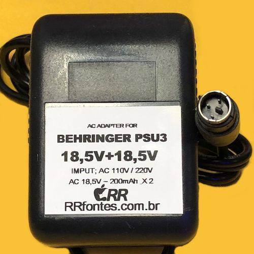 Fonte AC 18,5V Pseu3 Behringer MX602A UB502 UB802 UB1002 Xenyx 502 802 1002 Q502USB Q802USB MX602