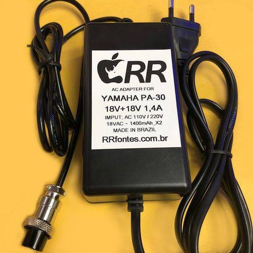 Fonte Caregador AC 18,5v 1400mA Mesa Som Yamaha Pa-30 Mg206usb Mg166c Mg166cx Mg206c