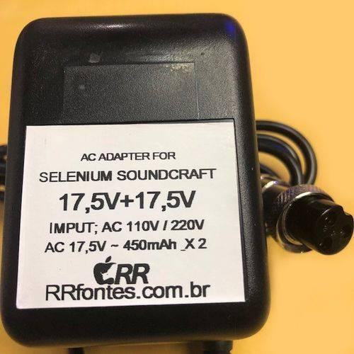 Fonte Carregador Mesa Soundcraft Spirit Folio Modelo Fx-8 17,5V 450mAh Bivolt