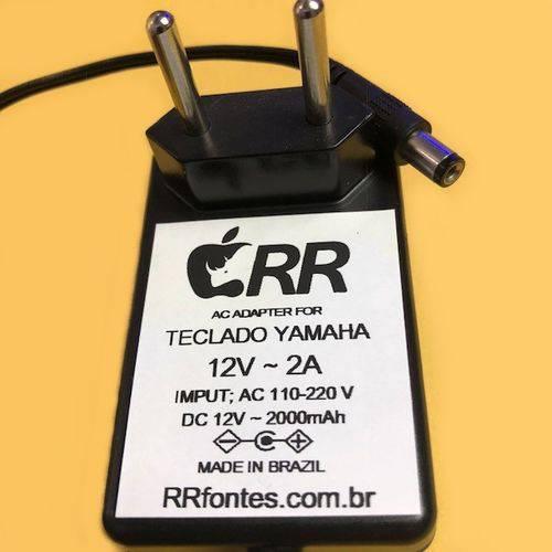 Fonte Carregador 12V 2000mAh para Teclado Yamaha Psr-150 Psr150 Especial