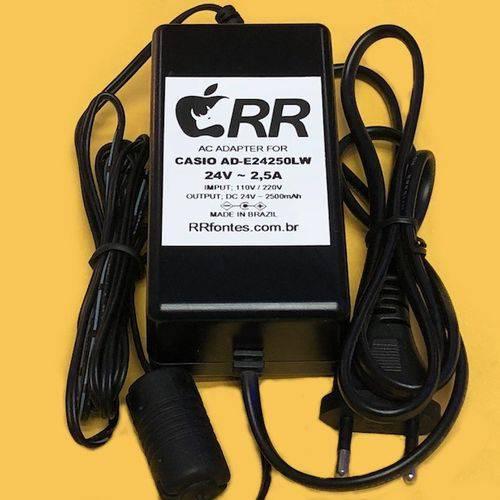Fonte Carregador 24v Ad-e24250lw para Casio Teclado PX850 PX850WE PX850BK PX-860 88-Key