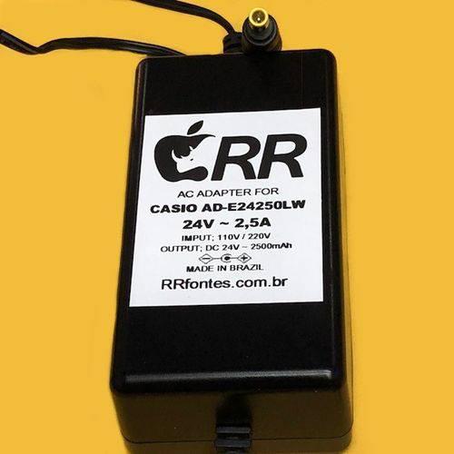 Fonte Carregador 24v para Casio Teclado e Piano Digital Ad-E24250lw Ad-E24250
