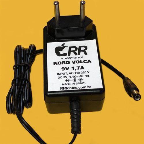 Fonte Carregador 9V 1,7A Compatível com Pedal Pedaleira Korg A4 / Ka-350 / Microkorg Mk1 / Ka-350