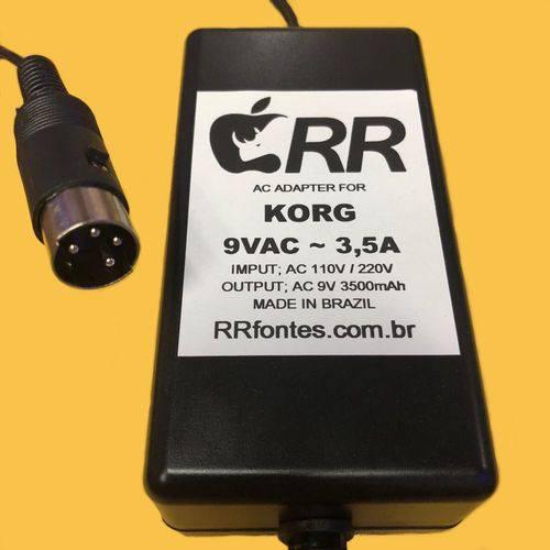 Fonte Carregador 9V 3,5A para Teclado Korg Karma Triton Le Karma N5 N1 N1r Tr76 N5ex Km2 Mixer