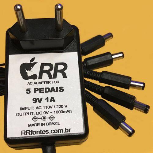 Fonte Carregador 9v para Pedal Pedaleira com Extensão para 5 Pedais