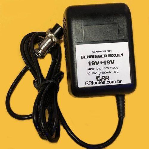 Fonte Carregador Ac 19V Compatível com Modelo FS-19150 para Mesa Mixer Behringer MX DX