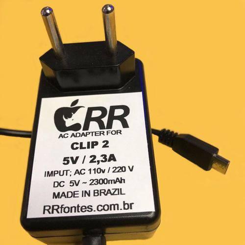 Fonte Carregador Compativel com Caixa de Som Dock´s Clip II Dois de 5v e 2,3a Bivolt 2