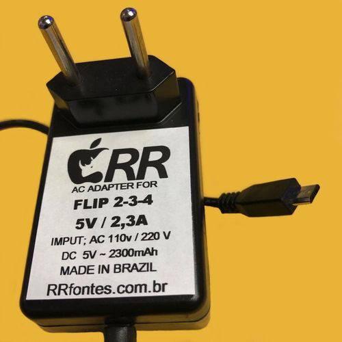 Fonte Carregador Compativel com Flip2 Flip 3 4 de 5v e 2300mA