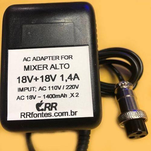 Fonte Carregador Compativel com Mesas de Som Mixer Alto 6ch 8ch 12ch 6 8 12 Canais 18v 1500mA Bivolt