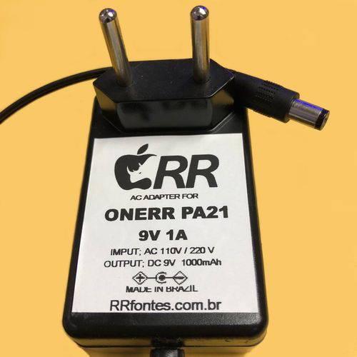 Fonte Carregador Compativel com Pedal Pedaleira de Efeitos Onerr Pa 21 Pa21 9v 1a