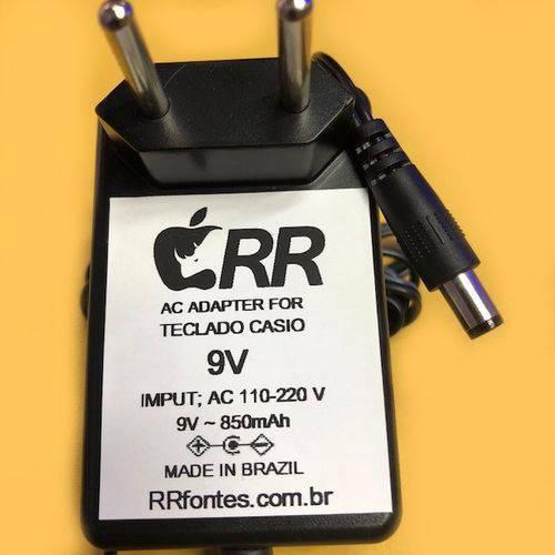 Fonte Carregador Pa4 P/ Teclado Casio 9V Ac 110/220v Dc9V 850mA