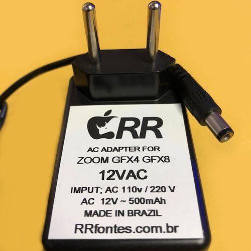 Fonte Carregador para Pedal Pedais Pedaleira Zoom Gfx4 Gfx8 Ad0008 12v 500ma