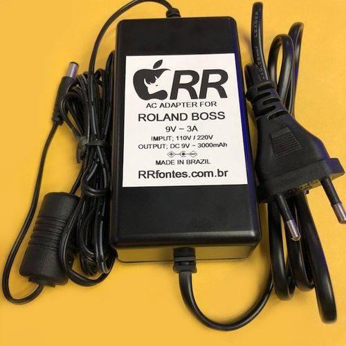 Fonte de Alimentação Carregador 9V 3A Amplificador Roland Boss Cube Street Psb-1u Bivolt