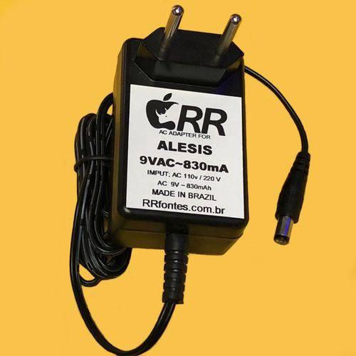 Fonte de Alimentação Carregador AC 9v para Instrumento Musical Alesis 9vac 830ma