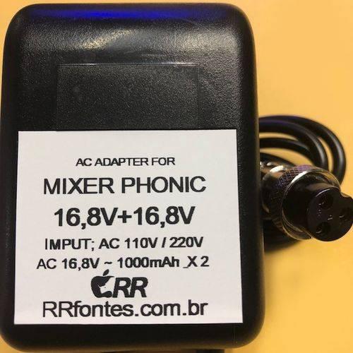 Fonte de Alimentação Carregador para Phonic MM1705 MM1705a 16,8v 1a Bivolt