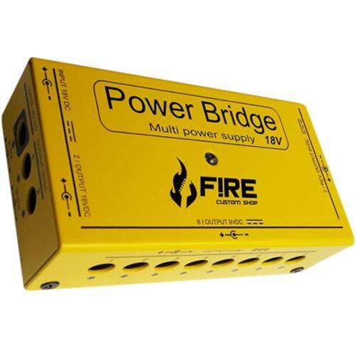 Fonte Fire Power Bridge 9v e 18v P/ 12 Pedais Amarela