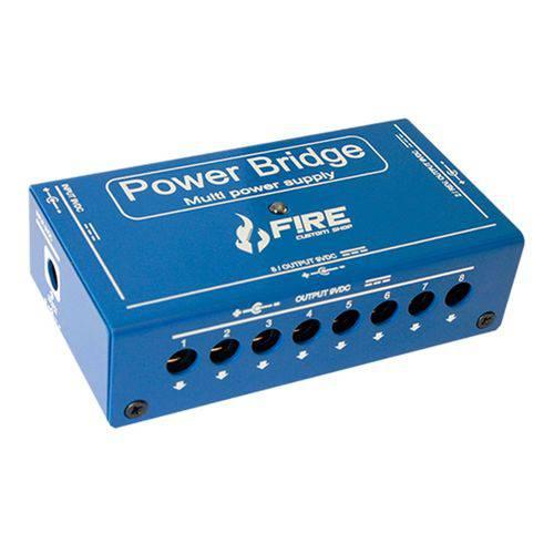 Fonte para Pedais Power Bridge 9V Fire - Azul