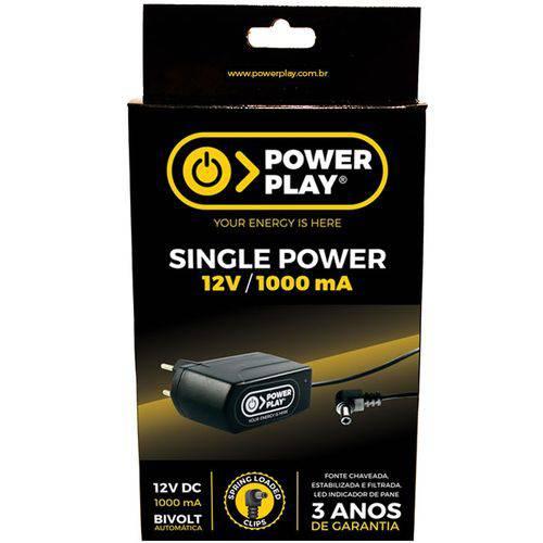 Fonte para Pedais Power Play Single Power 12v 1000ma