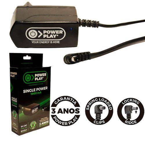 Fonte para Pedais Single Power 9v 1amp Power Play