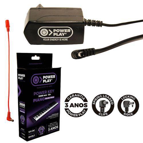 Fonte para Pianos Elétricos Power Key 12v 2amp Power Play