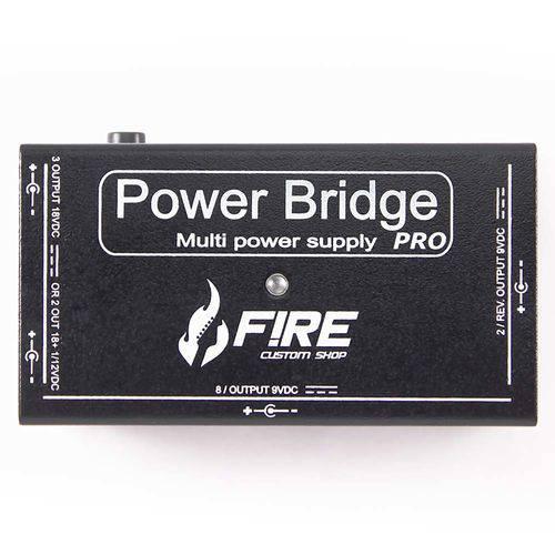 Fonte Pedal Power Bridge Pro Preta Fire Custom Shop