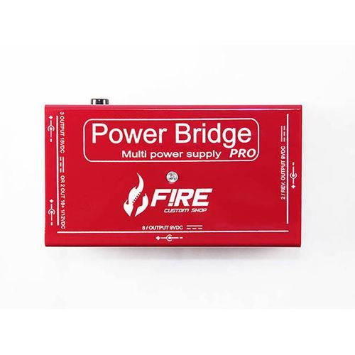 Fonte Pedal Power Bridge Pro Vermelha Fire Custom Shop