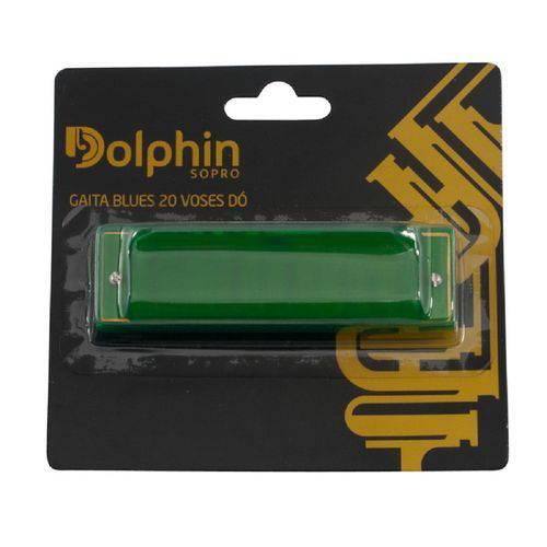 Gaita Blues 20 Vozes Dó Alumínio 6407 - Dolphin