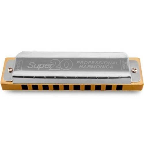 Gaita Boca Profissional Diatônica Hering 8020 Super 20 Mi e