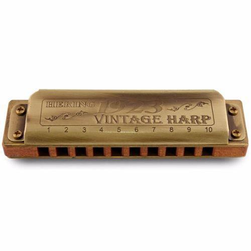 Gaita de Boca Diatônica Hering Harmônicas Vintage Harp 1923 em (e) 11020