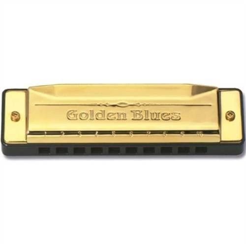 Gaita de Boca Harmônica Hering 5020 Diatônica Golden Blues D Ré