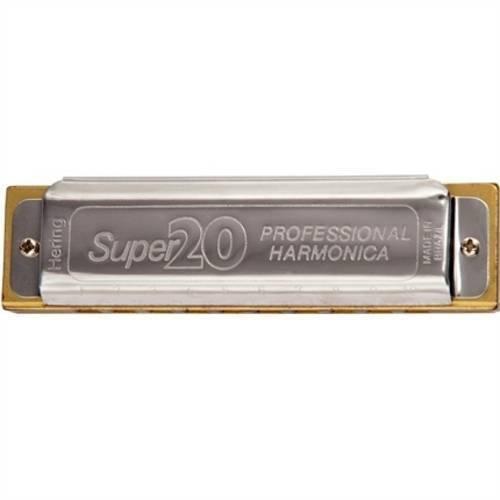 Gaita de Boca Super 20 Diatônica 8020 G Sol Hering